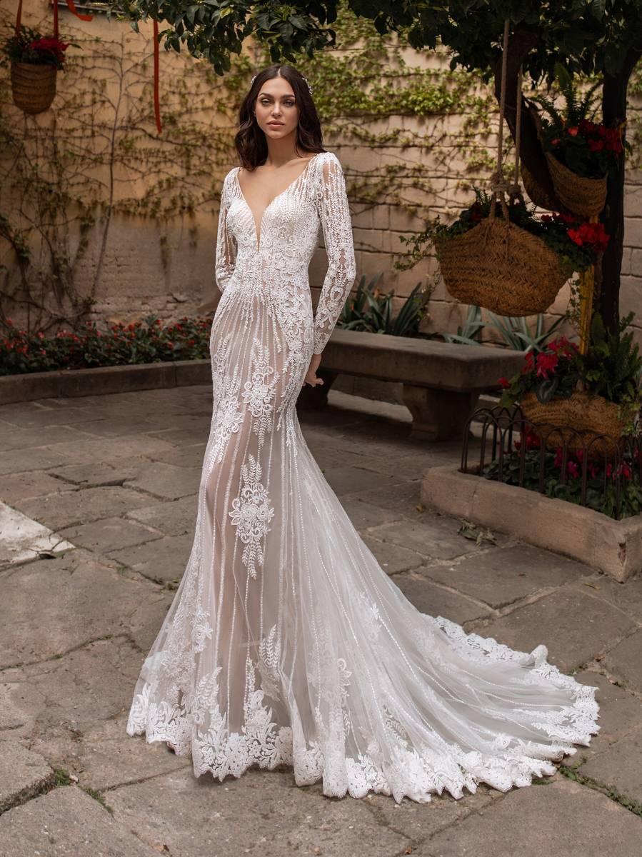 Robe de mariée Pronovias Méthone coupe sirè